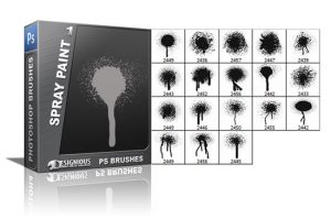 Spray paint brushes pack 1 Grunge brushes [tag]