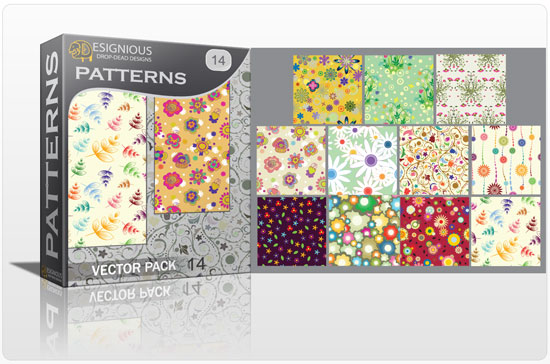Seamless patterns vector pack 14 products spring seamless floral patterns 14