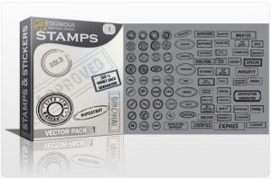 Stamps vector pack Stamps and stickers sign