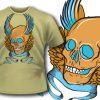 T-shirt design 76 products stupid skull t shirt 77