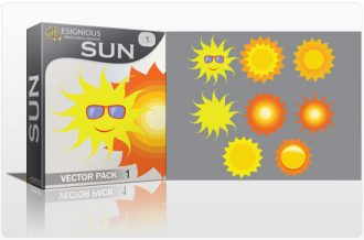 Sun vector pack Nature star