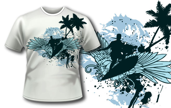 T-shirt design 56 products surf tee 56