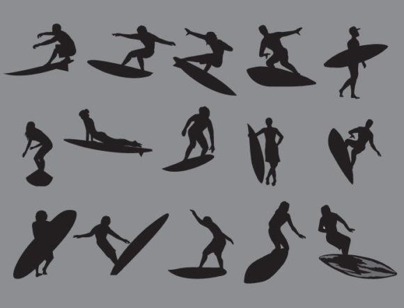 Surfer vector pack 2