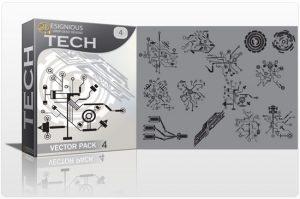 Tech shapes vector pack 4 Tech clip-art