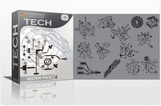 Tech shapes vector pack 4 Tech clip-art