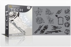 Tech shapes vector pack 3 Tech clip-art