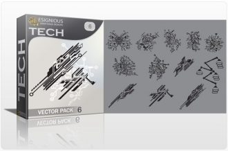 Tech shapes vector pack 6 Tech clip-art