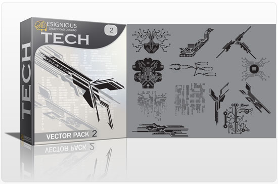 Tech shapes vector pack 2 products tech industrial clipart 2