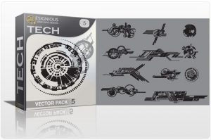 Tech shapes vector pack 5 Tech clip-art