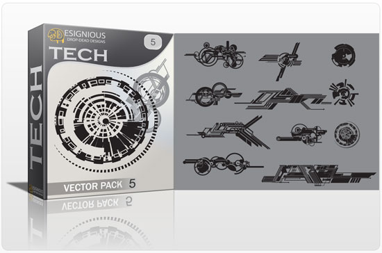 Tech shapes vector pack 5 1