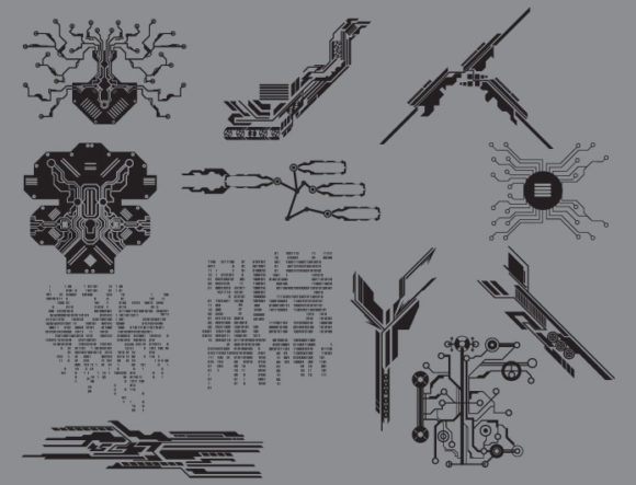 Tech shapes vector pack 2 products technology 2 prewiev