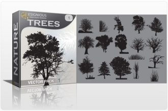 Trees vector pack Nature tree