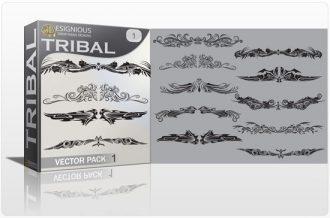 Tribal vector pack 1 Tribal vector