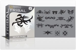 Tribal vector pack 6 Tribal vector