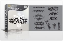 Tribal vector pack 5 Tribal vector