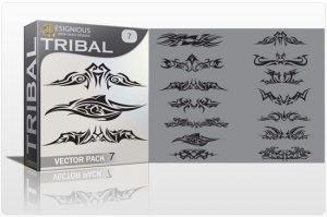 Tribal vector pack 7 Tribal vector