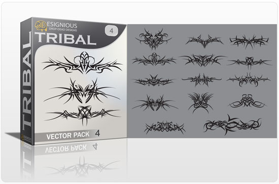 Tribal vector pack 4 products tribal frame 4