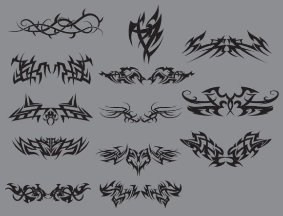 Tribal vector pack 10 products tribal10 prewiev