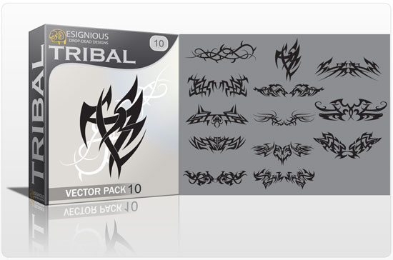 Tribal vector pack 10 products tribal10