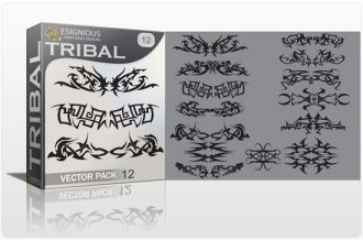 Tribal vector pack 12 Tribal vector