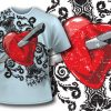 T-shirt design 60 products valentines tee 59