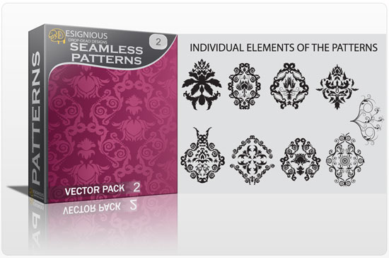 Seamless Patterns vector pack 2 Patterns victorian