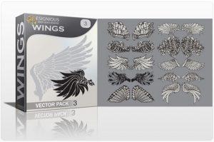 Wings vector pack 3 Wings vector