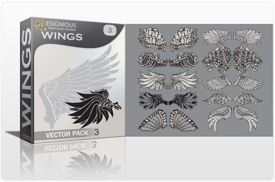 Wings vector pack 3 products vector wings 3