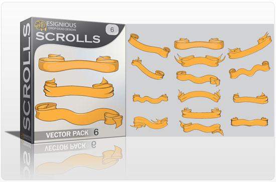 Scrolls vector pack 6 5