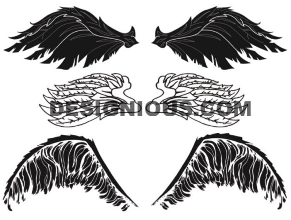 Wings brushes pack 3 6