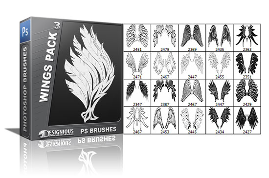 Wings brushes pack 3 5