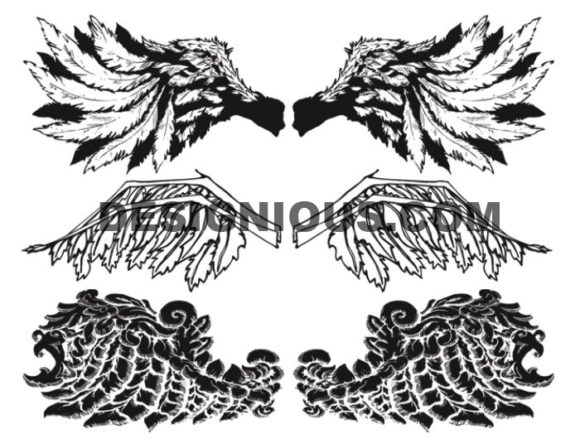Wings brushes pack 4 6