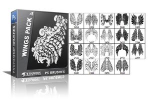 Wings brushes pack 4 Wings brushes [tag]