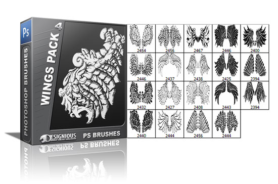 Wings brushes pack 4 5