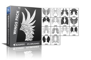 Wings brushes pack 5 Wings brushes [tag]