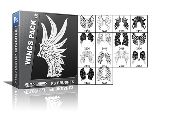 Wings brushes pack 5 5