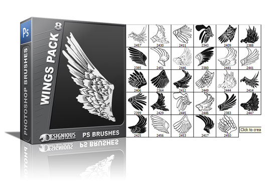 Wings brushes pack 8 5