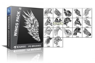 Wings brushes pack 9 Wings brushes [tag]