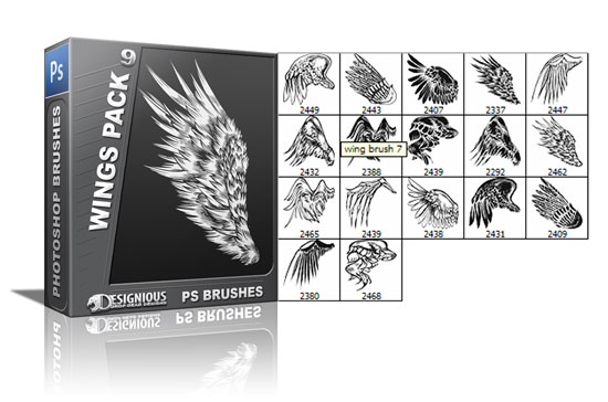 Wings brushes pack 9 3