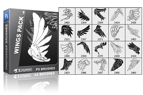 Wings brushes pack 1 3