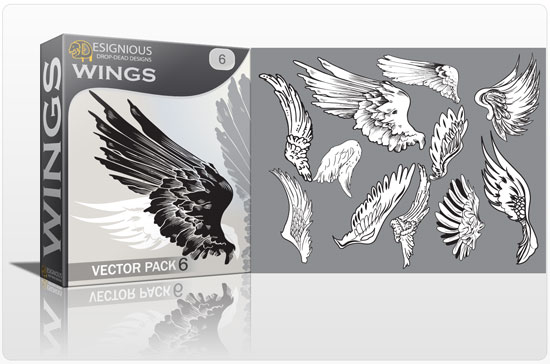 Wings vector pack 6 Wings vector