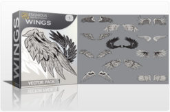 Wings vector pack 1 Wings vector