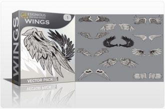 Wings vector pack 1 Wings vector