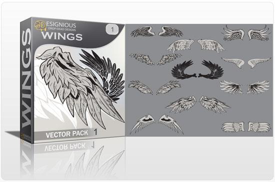 Wings vector pack 1 3