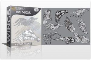 Wings vector pack 8 Wings vector