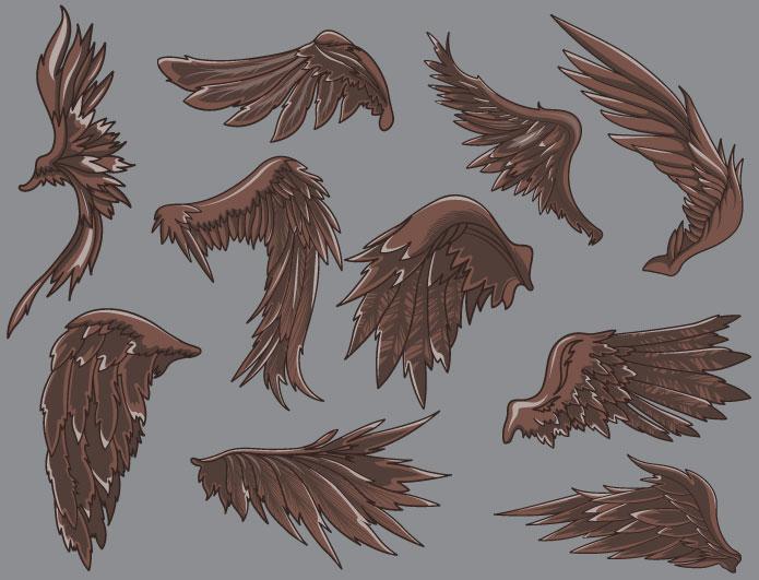 Wings vector pack 9 Wings vector