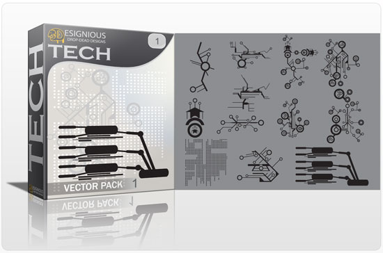Tech shapes vector pack products wire tech shapes