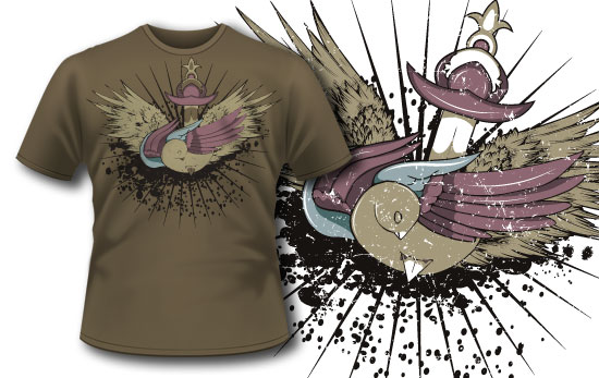 T-shirt design 63 products wounded bird design 63