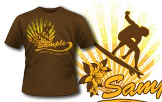 T-shirt design 161 surfer T-shirt Designs and Templates wave