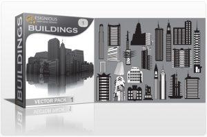 Buildings vector pack Buildings building